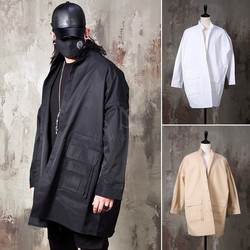 Multiple pocket boxy shirt jacket