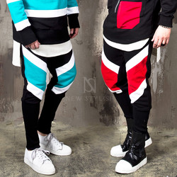 Contrast striped sweatpants
