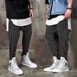 Striped baggy sweatpants