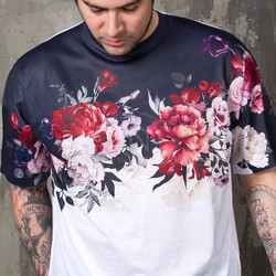 Flower printed t-shirts - 866