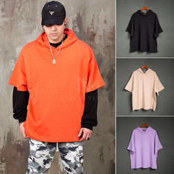 Short sleeves loose fit hoodie - 203