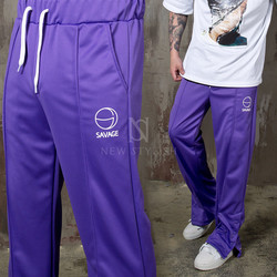 Hip hop vibe snap button jersey sweatpants