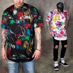 Mono flower patterned boxy shirts