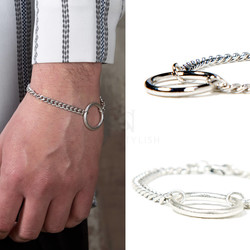 Metal O-ring chain bracelet