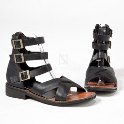 Triple belted modern gladiator sandals