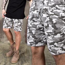 Camouflage pattern sweatshorts