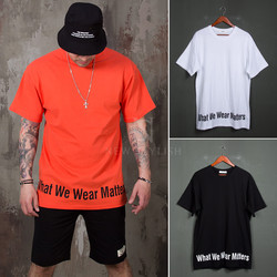 Lettering printed t-shirts