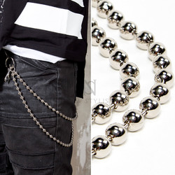 Double metal beads wallet chain