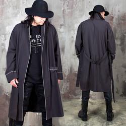 Simple line robe coat