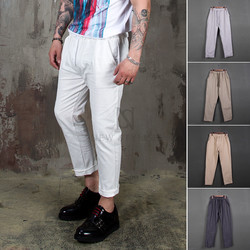 [Special Price] Linen blend banding ankle pants