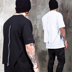 Layered zipper cover back t-shirts