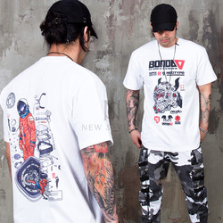 Mechanical color graphic printed t-shirts
