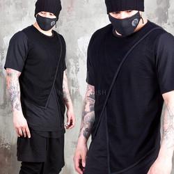 Cross mesh layered t-shirts