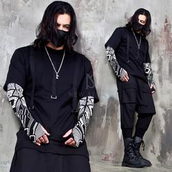 Triple webbing strap accent black t-shirts