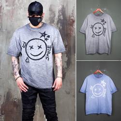 Gradation smile grunge t-shirts - 997