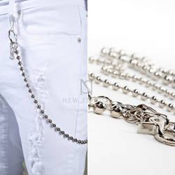 Metal beads wallet chain