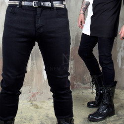 Plain black slim jeans