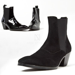 Sharp high heel chelsea boots