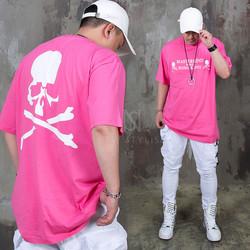 Skull printed pink t-shirts