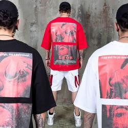 Leon poster printed boxy t-shirts - 1005