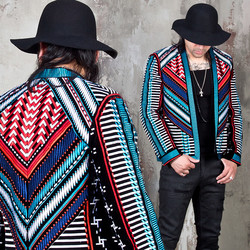 Colorful embroidered open blazer - 57