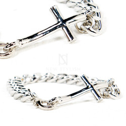 Metal cross chain bracelet - 101