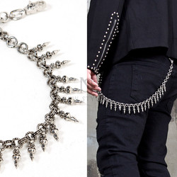 NewStylish Mens Fashion Casual Wear Multiple Metal Silver Claw Wallet Chain
