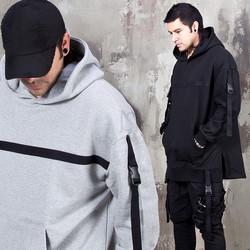 4 belted accent kangaroo pocket hoodie - 207