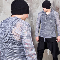 See-thru mesh hoodie