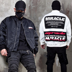Lettering patchwork air force jacket - 344