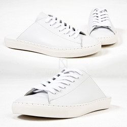 Hand-made white slipper sneakers - 460