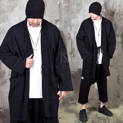 Avant-garde Kimono vibe oversized cardigan