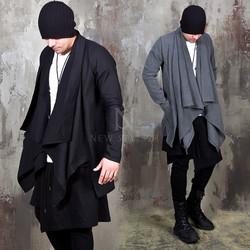 Unbalanced shawl cardigan
