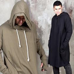 Avant-garde wide long hoodie