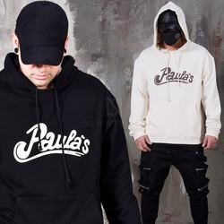 Casual lettering printed hoodie