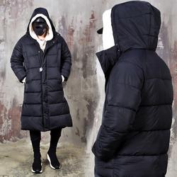 Black padded hood parka
