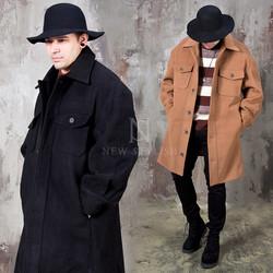 Two chest pocket oversized coat