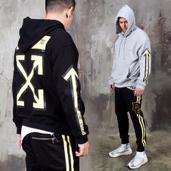 Arrow symbol printed hoodie