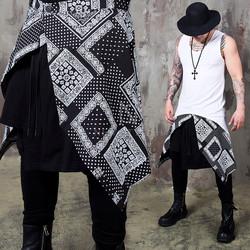 Jacquard patterned asymmetric wrap skirt