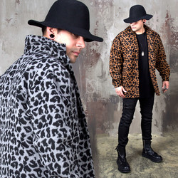 Leopard patterned loose shirts