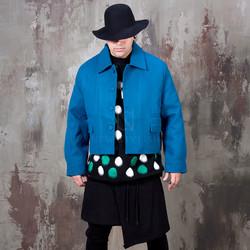 Oversized crop single jacket