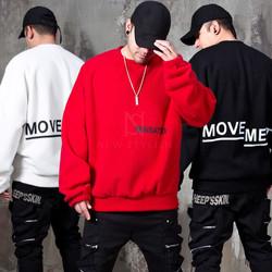 Oversized lettering fleece sweatshirts