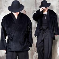Samurai vibe calf fur cardigan