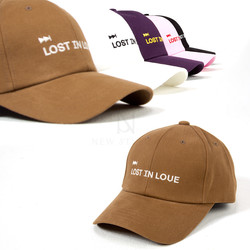 """Lost in love"" lettering ball cap"