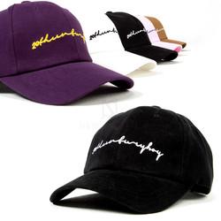 Cursive lettering ball cap