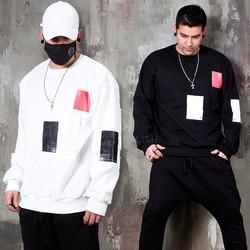 Contrast patchwork sweatshirts
