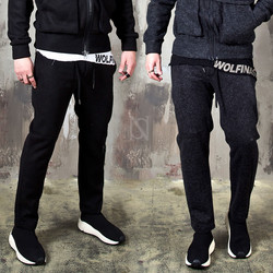 Wool terry blend zipper pocket sweatpants