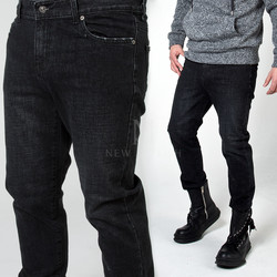 Plain washed black jeans