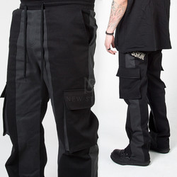 Contrast banding cargo pants