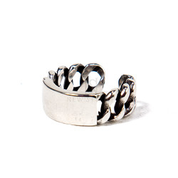 Partially squared open chain ring